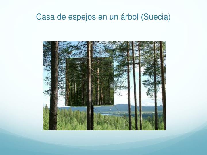 Casa de espejos en un árbol (Suecia)