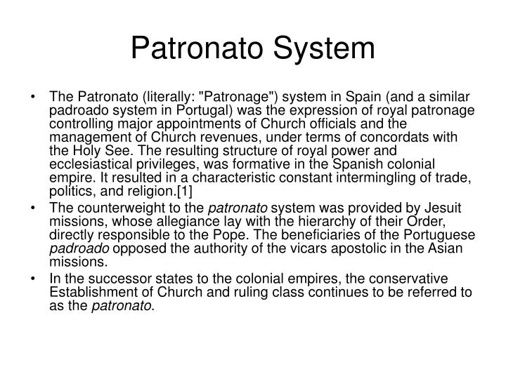 Patronato System
