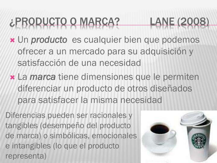 Producto o marca lane 2008