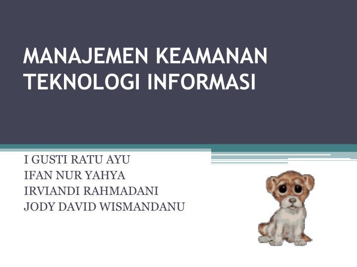 Manajemen keamanan teknologi informasi