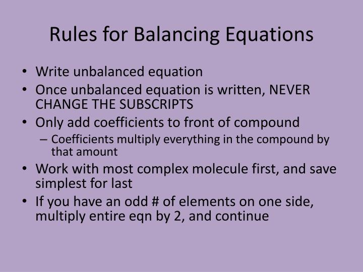 How To Balance Chemical Equations With Odd Numbers - Tessshebaylo