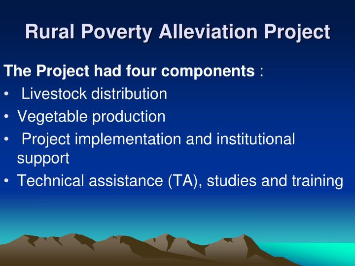 Rural Poverty Alleviation Project