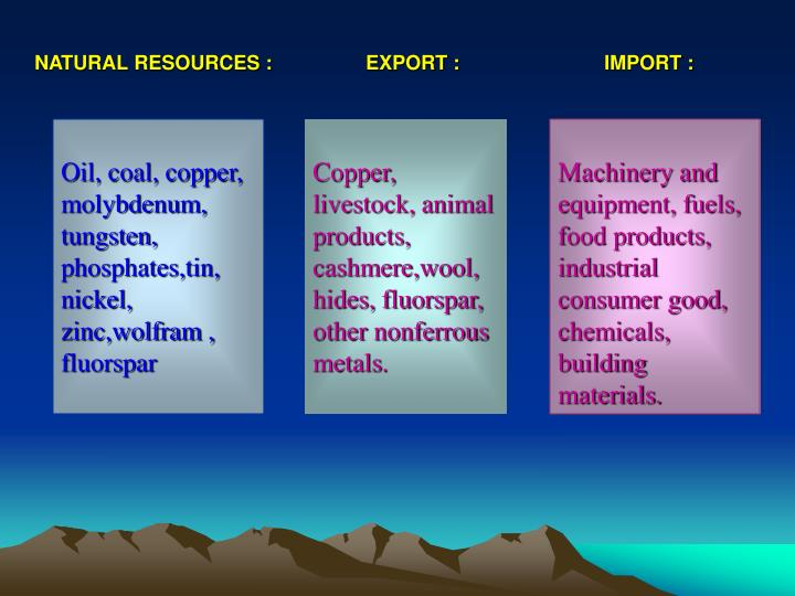 NATURAL RESOURCES :
