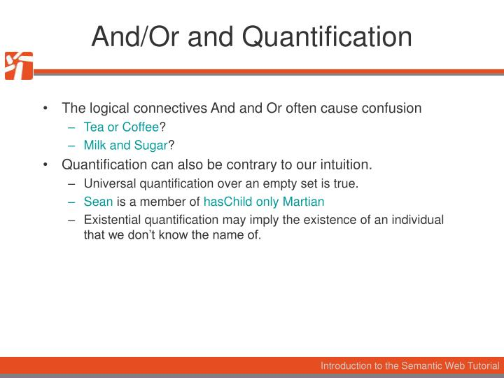 And/Or and Quantification