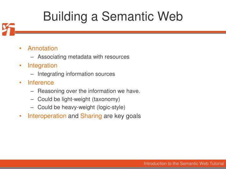 Building a Semantic Web