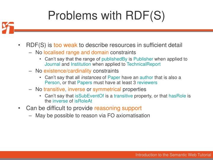 Problems with RDF(S)