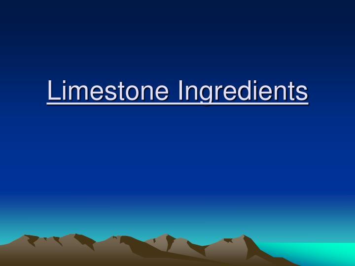 limestone ingredients n.