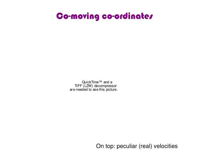 Co-moving co-ordinates