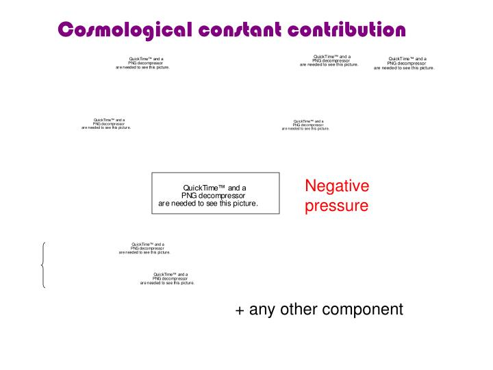Cosmological constant contribution