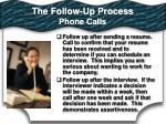 the follow up process phone calls