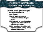the interview process advance preparation cont1