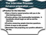 the interview process advance preparation cont2