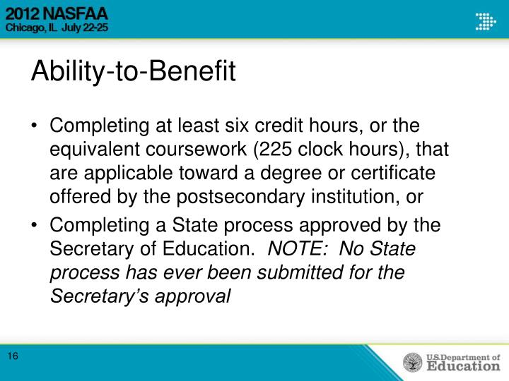 Ability-to-Benefit