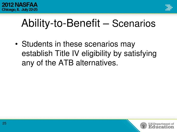 Ability-to-Benefit –