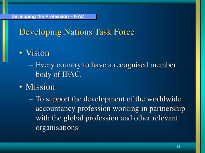 Developing Nations Task Force
