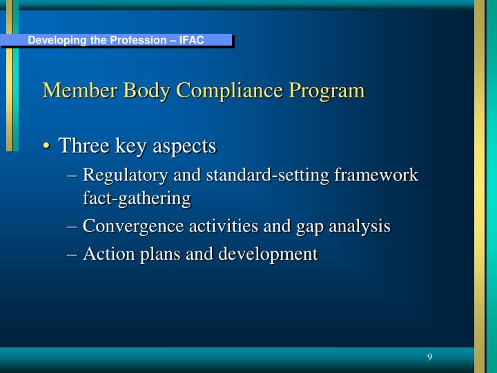 Member Body Compliance Program