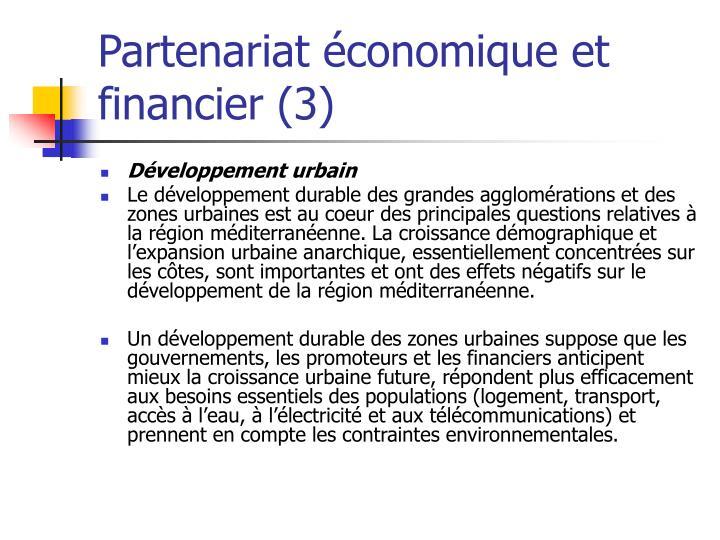 Partenariat économique et financier (3)