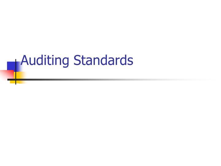 auditing standards n.