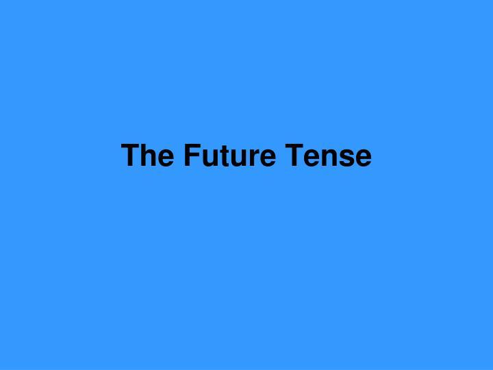 the future tense n.