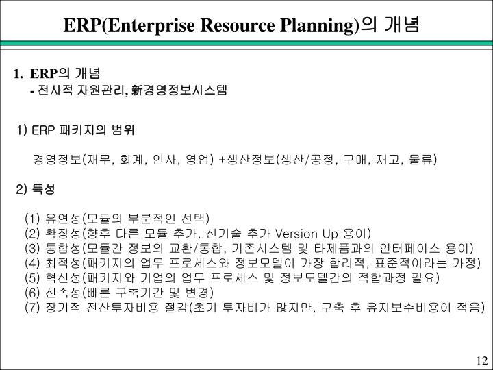 ERP(Enterprise Resource Planning)