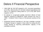 delors ii financial perspective