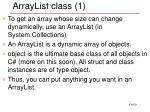 arraylist class 1