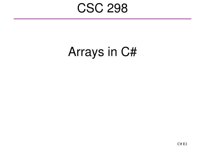 csc 298 n.