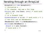 iterating through an arraylist
