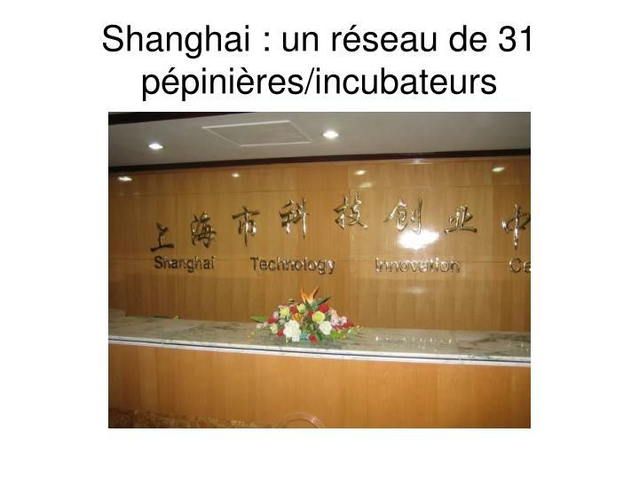 Shanghai : un réseau de 31 pépinières/incubateurs