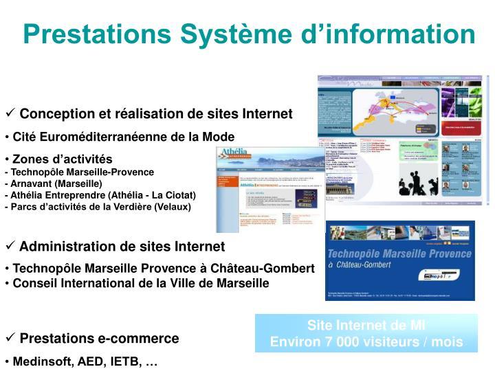 Prestations Système d'information