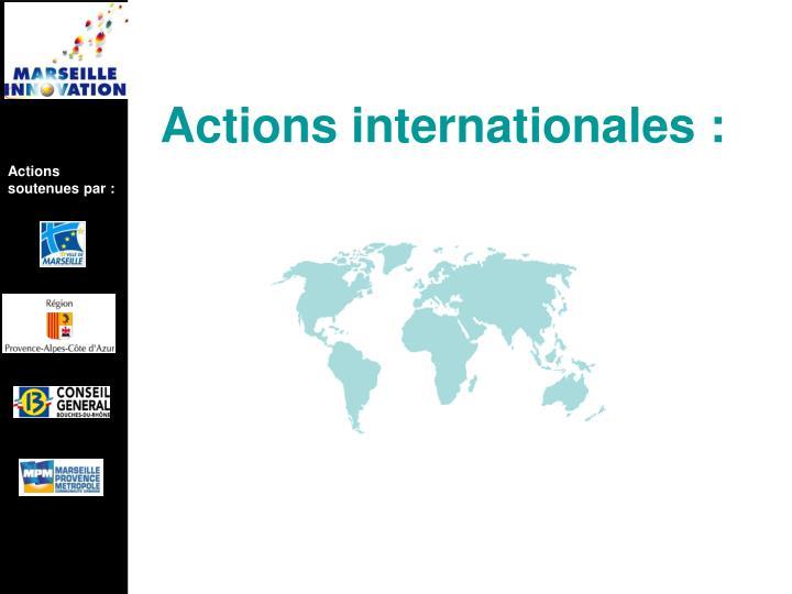 Actions soutenues par :