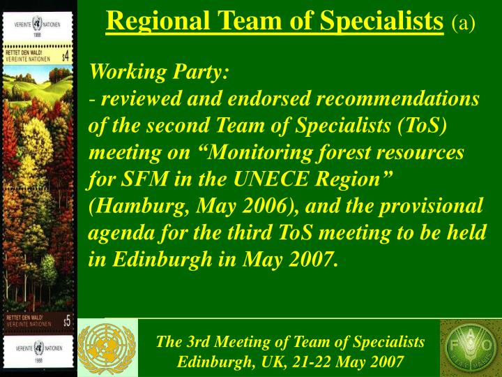 Regional Team of Specialists