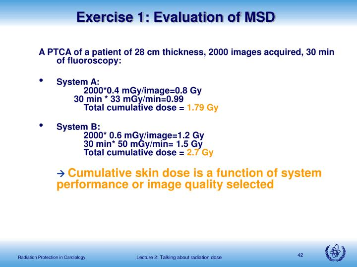 Exercise 1: Evaluation of MSD