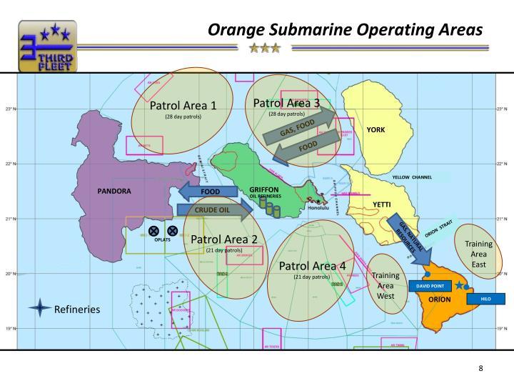 Orange Submarine Operating Areas