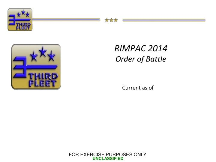 Rimpac 2014 order of battle