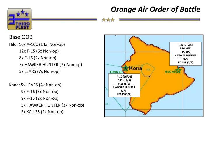 Orange Air Order of