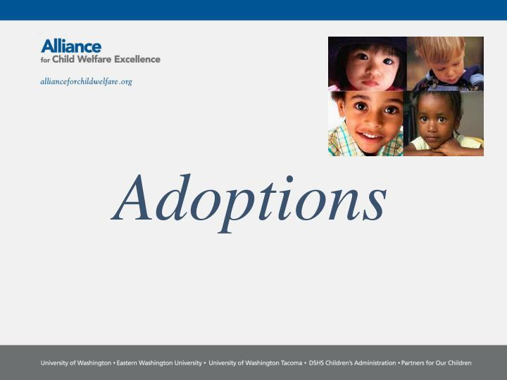 adoptions n.