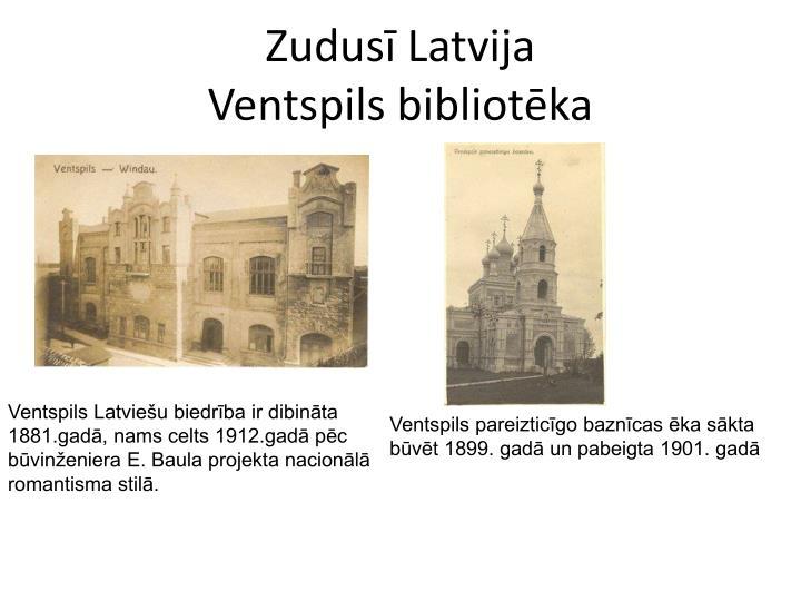 Zudus latvija ventspils bibliot ka