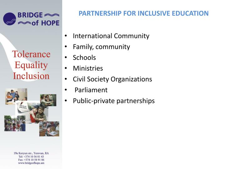 PARTNERSHIP FOR INCLUSIVE EDUCATION
