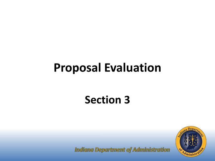 Proposal Evaluation