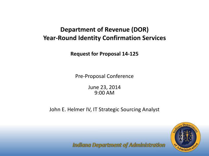 Department of Revenue (DOR)