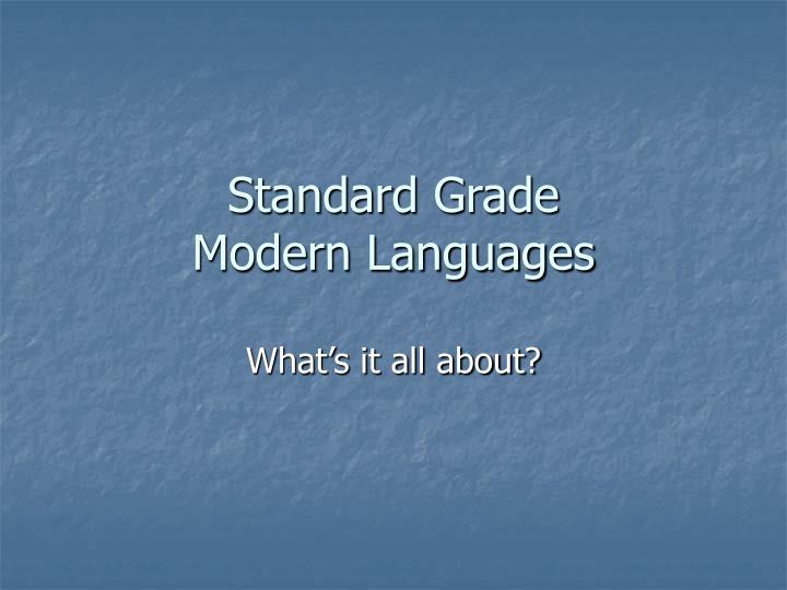 Standard grade modern languages