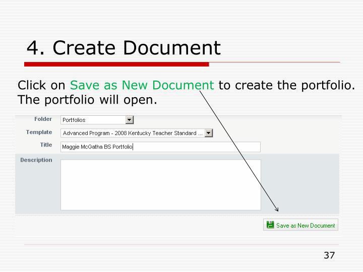 4. Create Document