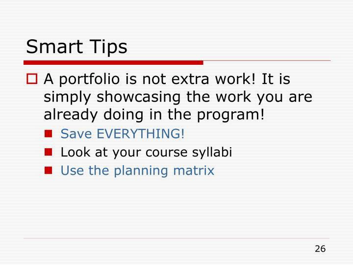 Smart Tips