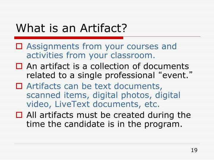 What is an Artifact?