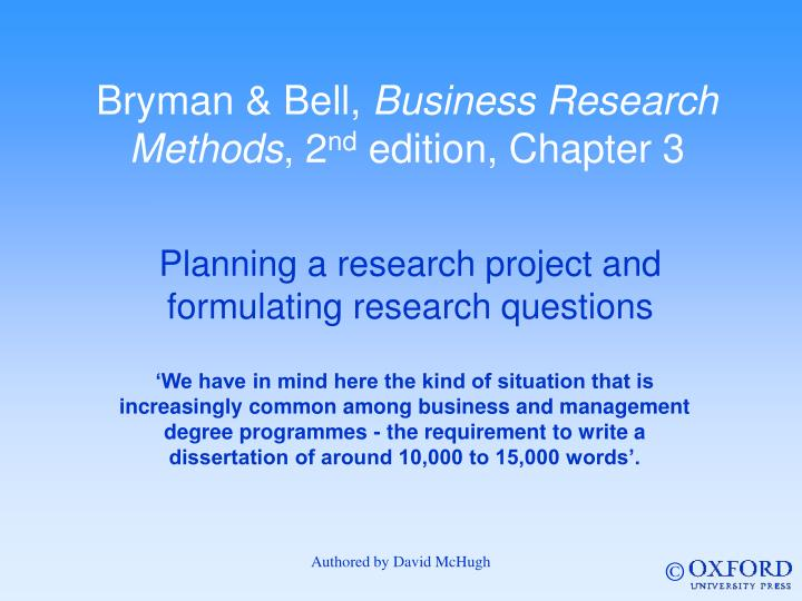 bryman bell business research methods Bryman a bell e 2007 business research methods 2nd edition oxford oxford from marketing mktg1199 at royal melbourne institute of technology.