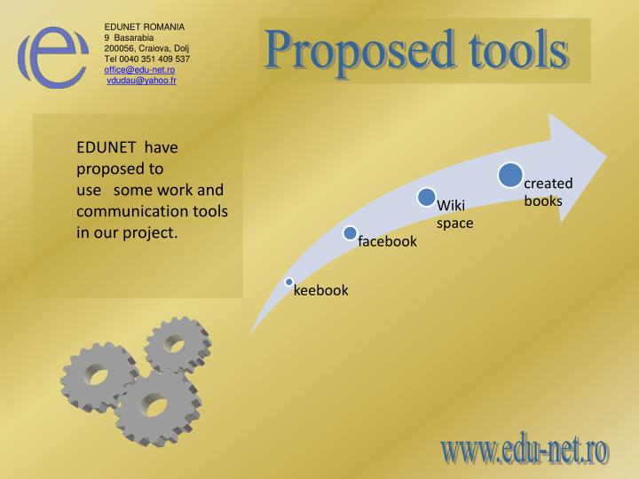 Proposed tools