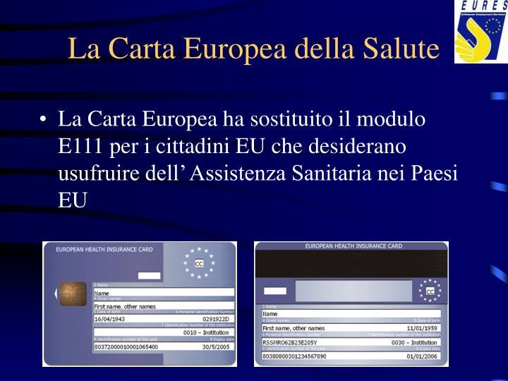 La Carta Europea della Salute