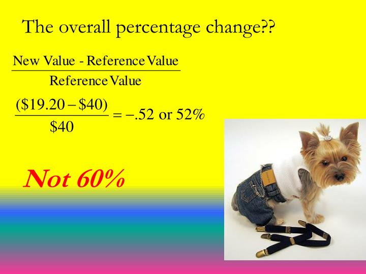 The overall percentage change??
