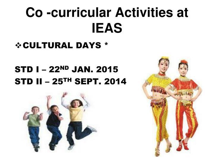 Co -curricular Activities at IEAS